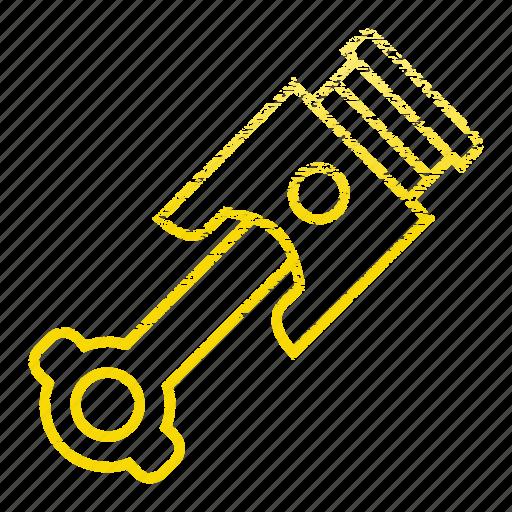 car, mechanic, part, piston, tool, vehicle icon