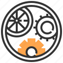 cogwheel, cogwheels, configuration, gear, industry, settings, tools and utensils icon