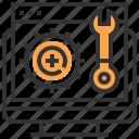 electronics, mechanic, mechanics, repair, settings, tighten, wrench icon