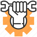 cogwheel, electronics, gear, gears, repair tool, settings, wrench icon
