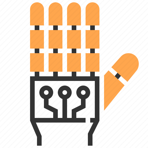 electronics, engineering, hand, industry, robot, robotics, technology icon