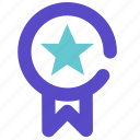 achievement, award, badge, medal, military, prize, trophy, winner icon
