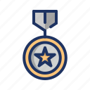 champion, medal, reward, star, trophy, winner icon