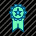 award, badge, champion, medal, sports, trophy, winner icon