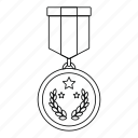 achievement, award, first, medal, prize, success, winner