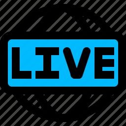 broadcasting, live, news icon