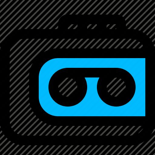 recorder, tape, walkman icon
