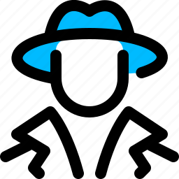 agent, detective, reporter, spy icon