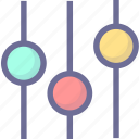 equalizer, volume icon