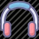 earphone, earpiece, headphone, headset, listen icon