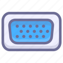 connection, datas, port icon