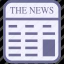 news, newspaper, paper icon