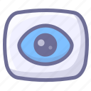 camera, eye, record, tracking, video icon
