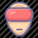 3d, film, movie, virtual reality, vr icon