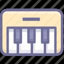 electronic, music, organ icon