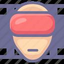 film, movie, virtual reality, vr icon