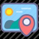 location, photo, picture icon