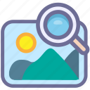 photography, picture, search icon
