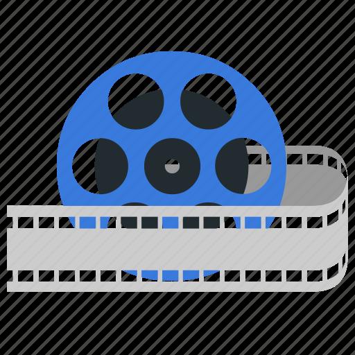 film, movie, movie reel, reel, video icon