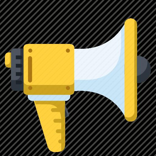 advertisement, loudspeaker, marketing, megaphone, promotion icon