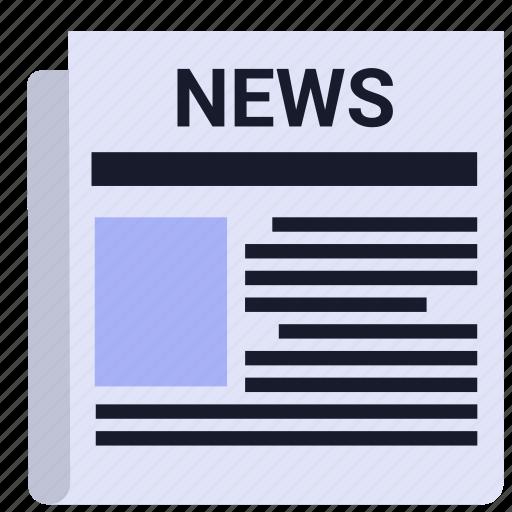 media, news, news paper, paper, print, print media icon
