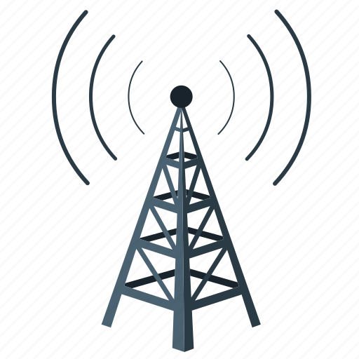 connection, network, tower, wireless icon
