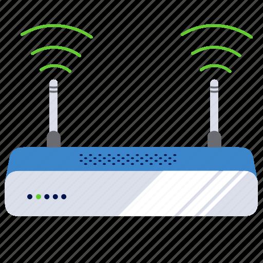 broadband, connection, modem, wifi, wifi modem, wireless icon