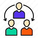 focus, group, relationship, team, work icon