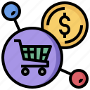 broswer, ecommerce, monitor, multimedia, online, screen, shop icon
