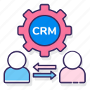 crm, customer, media, methodologies icon
