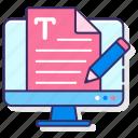 content, copywriting, media, scripting icon