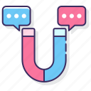 communication, engagement, media, social icon