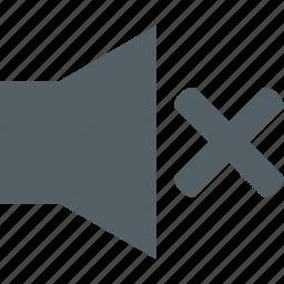 audio, media, music, mute, sound, speaker icon