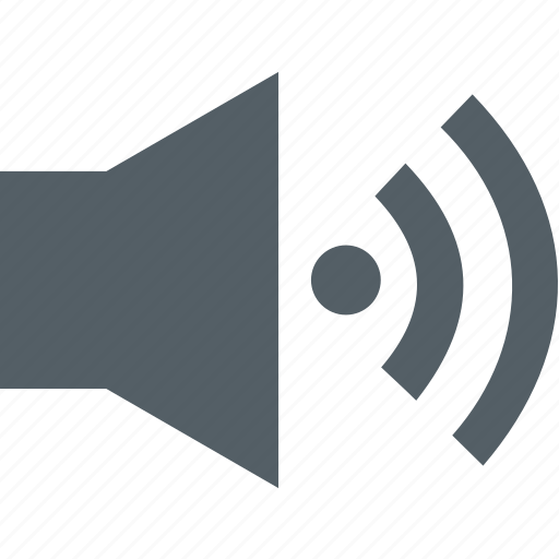 audio, media, music, sound, speaker, volume icon