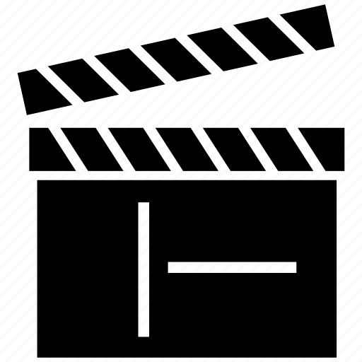 cinema, clapboard, clapper, film flap, movie icon