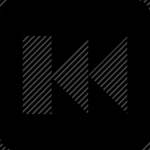 back track, fast rewind, multimedia, reverse, rewind icon