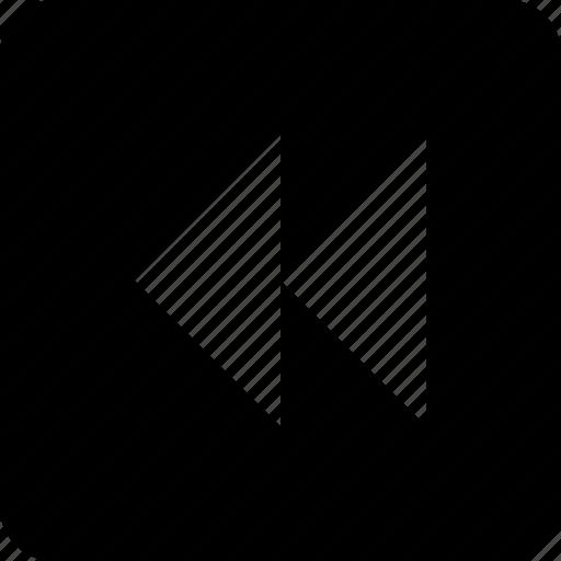 back track, fast rewind, media, reverse, rewind icon