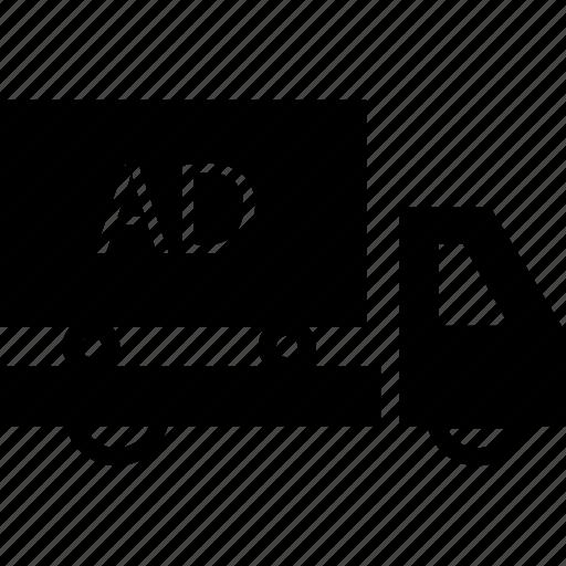 advertisement, advertising, advertising on transport, transport icon