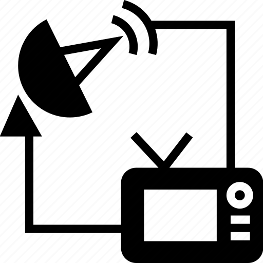 antenna, broadcasting, dish, media, network, satellite icon