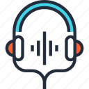 communication, entertainment, headphones, headset, media, music, sound icon