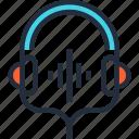 communication, entertainment, headphones, headset, media, music, sound