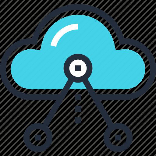 cloud, internet, media, multimedia, network, share, social icon