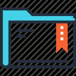 bookmark, data, document, favorite, file, folder, media icon