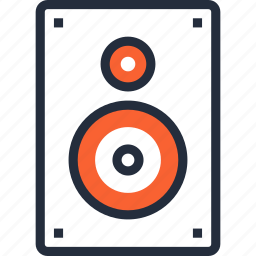 audio, loudspeaker, loudspeakers, media, music, sound, speaker icon
