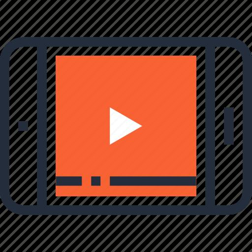 film, media, movie, multimedia, play, tablet, video icon