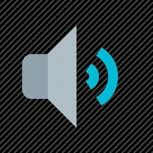 audio, low, media, music, sound, speaker, volume icon