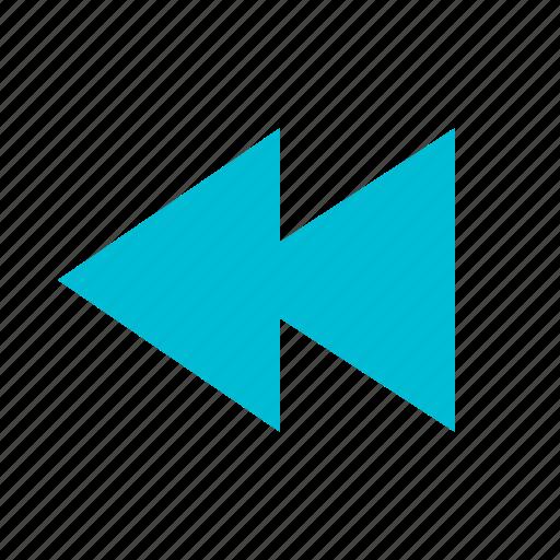 arrow, audio, back, media, previous, rewind, video icon
