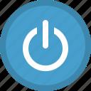 audio control, media button, media control, multimedia, power, turn off icon