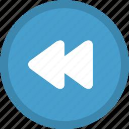 audio control, backwards, media button, media control, multimedia, previous track, rewind icon