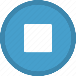 audio control, media button, media control, multimedia, stop, stop button icon